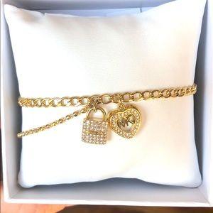 Michael Kors charm bracelet lock